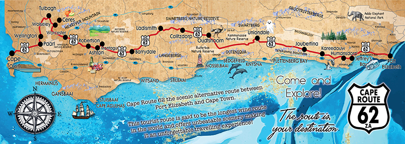 Map Of Route 62 South Africa.Route 62 Info